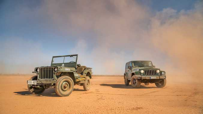Jeep Wrangler 75th Anniversary Edition launched as part of celebrations for Jeep's 75th anniversary, pictured beside the origin of the species: a 1942 Willys MB. Photo: Thomas Wielecki