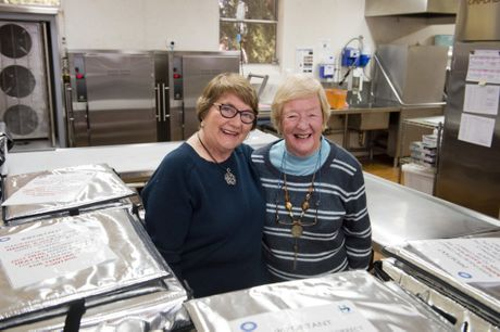 Meals on Wheels volunteers Sue Tyson (left) and Lillian Fisher have been a team for more than 40 years.