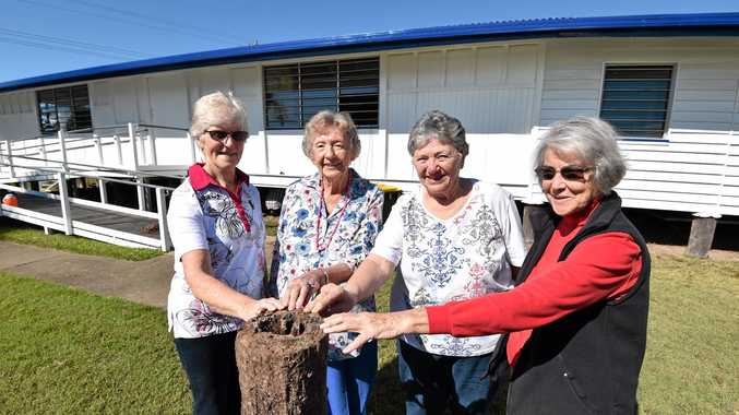 EXCITED: The Urangan QCWA progress hall is getting restumped thanks to a $35,000 Gambling Community Benefit Fund grant. Members Dorothy Blanch, Ula Scott, Bette Cox and Cae Adams look forward to the hall's transformation.
