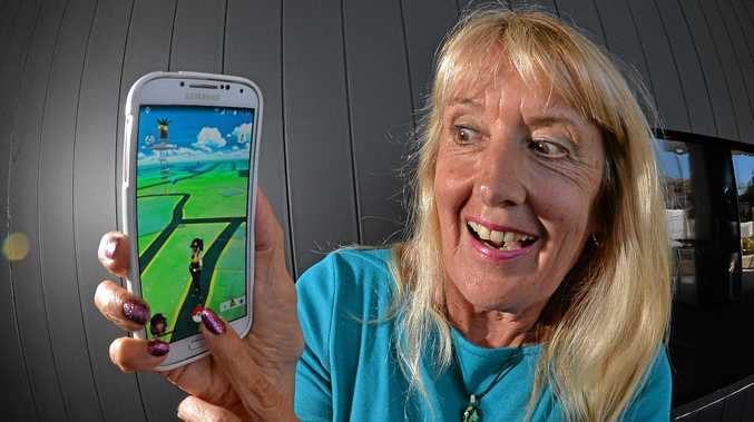 Robyn Oxenham ia a 65 year old local full time worker who finds Pokemon Go to be a fun addition to her exercise regime and something she can share with the younger people.