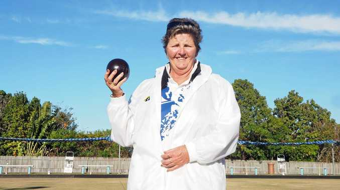 READY TO ROLL: Gail Dellar is at the Queensland Multi Disability Championships.