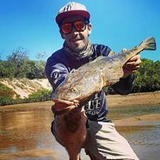Tommy Nolan caught this 73cm flathead from the Pioneer River.