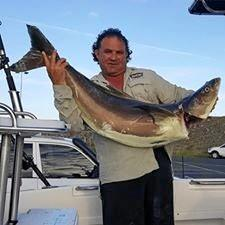 Jason Curana caught this 20kg plus cobia around the Beverleys at Hay Point.