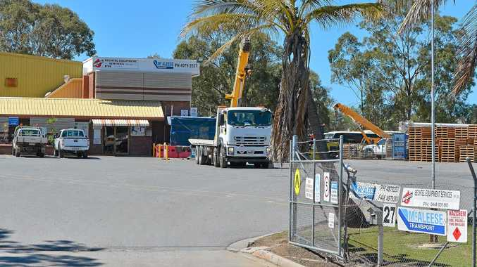Gladstone depot - McAleese transport has gone into voluntary administration. Photo Mike Richards / The Observer