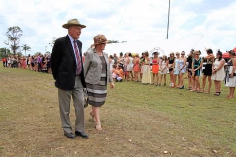 Warren Truss and his wife Lyn on the job when Mr Truss was the Federal Member for Wide Bay.