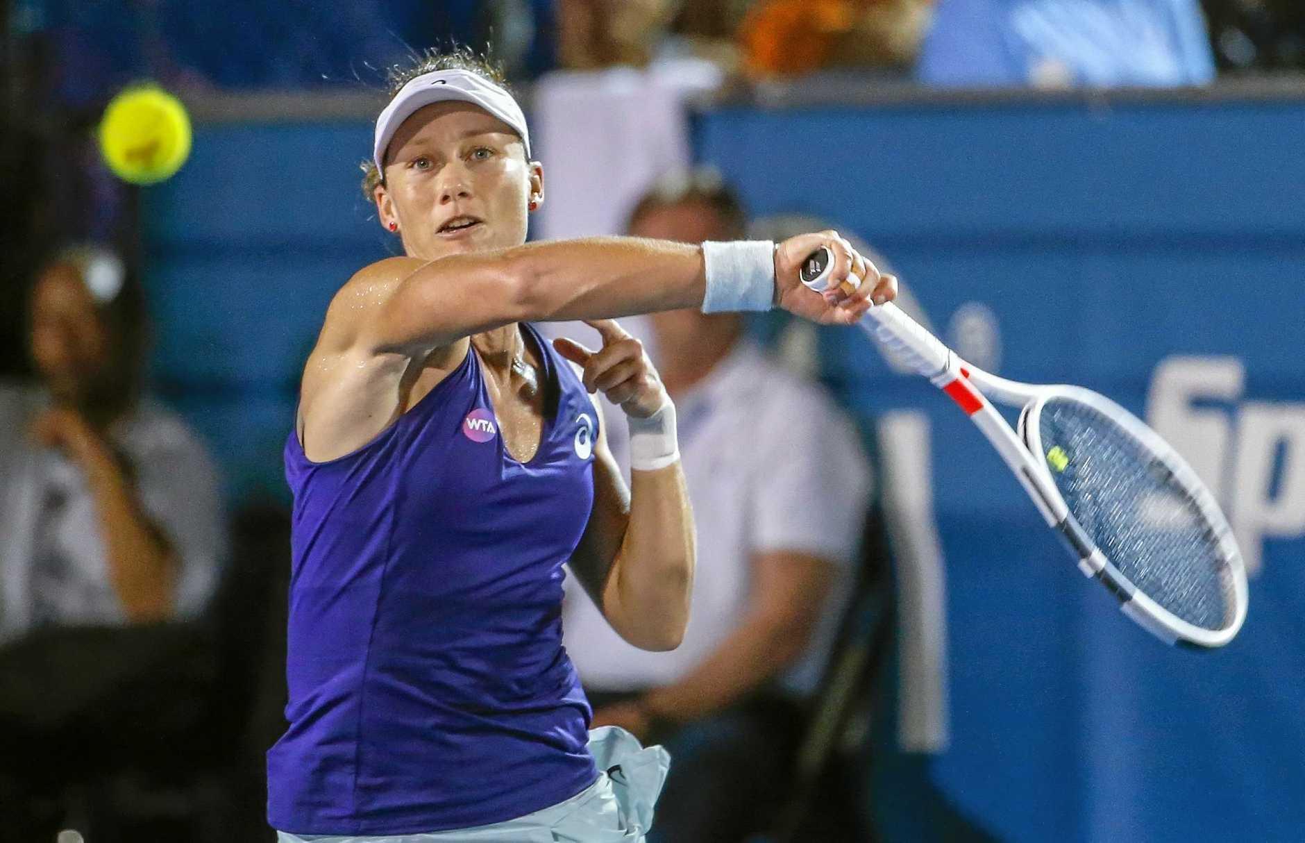FORMER CHAMPION: Samantha Stosur of Australia will start her US Open tilt tomorrow.