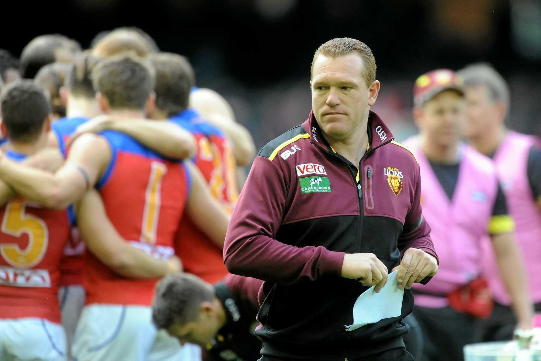 Justin Leppitsch was sacked as Brisbane Lions coach last week.