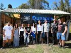 MOVIE STARS: The cast and crew at the first read for the Dunamis film at Cudgera Creek on Saturday.