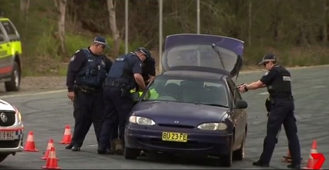 One of the dramatic scenes, as captured by Seven News.