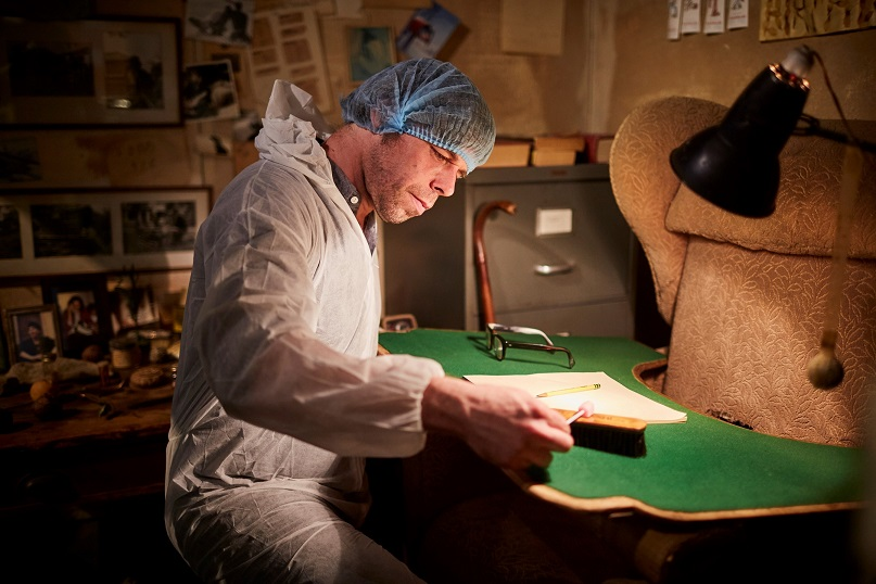 STRANGE POLITICS: Brewers have swabbed author Roald Dahl's writing desk and armchair to create the yeast cultures needed in the fermentation process.