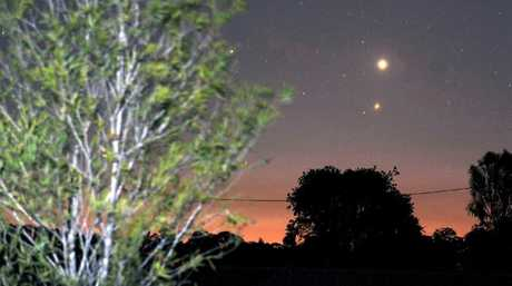 Kingaroy astronomer James Barclay captured these images of Venus and Jupiter appearing low and bright in the sky this month.