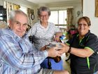 Meals on Wheels Ipswich worker Louise Vieth (right) with clients Les and Joyce Forsyth.