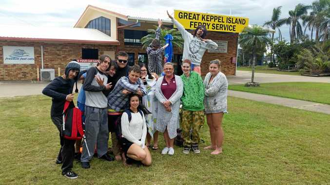 NEW DIRECTION: Participants and their Get Set For Work program coordinators from Yeppoon PCYC enjoyed their final day together at Great Keppel Island.