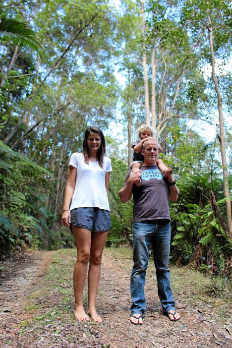 ECO WARRIORS: (from left) Andrew Cairncross, Oliver McLachlan and Nicole McLachlan are planning to protect the land for future generations.