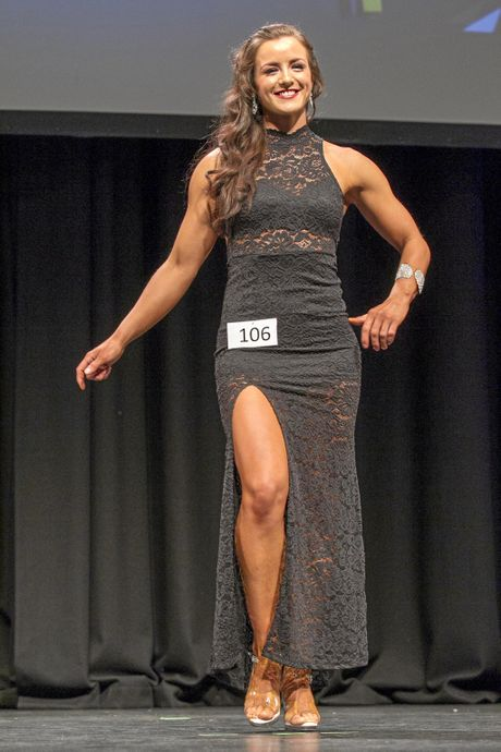 HARD WORK: Shelle Wagner on stage at the inaugural Toowoomba International competition.