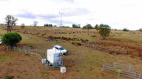 RESULTS ARE UP: An air monitoring station in the Western Downs.