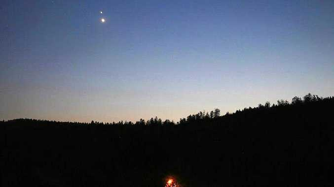 The Canadian Space Agency's picture of the Venus and Jupiter conjunction.