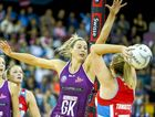 Laura Geitz of the Firebirds in action during the grand final match of the ANZ Championship between the Queensland Firebirds and the NSW Swifts at the Brisbane Entertainment Centre in Brisbane, Sunday, July 31, 2016. (AAP Image/Glenn Hunt) NO ARCHIVING, EDITORIAL USE ONLY