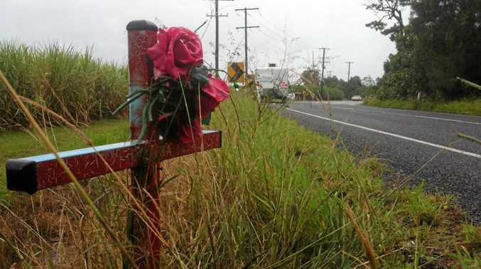 SLOWER PACE: A roadside memorial to a crash victim on Yandina-Coolum Rd, where not everyone appreciates the reduction in the speed limit from 100kmh to 80kmh.