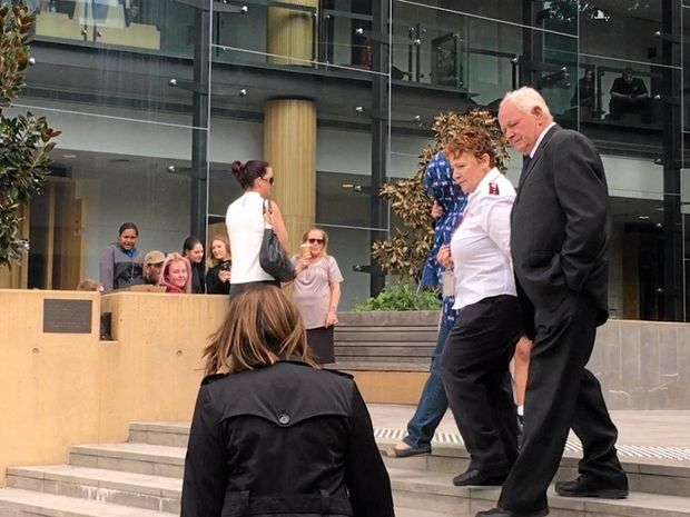 SENTENCE PENDING: Tom Noble leaves Ipswich District Court.