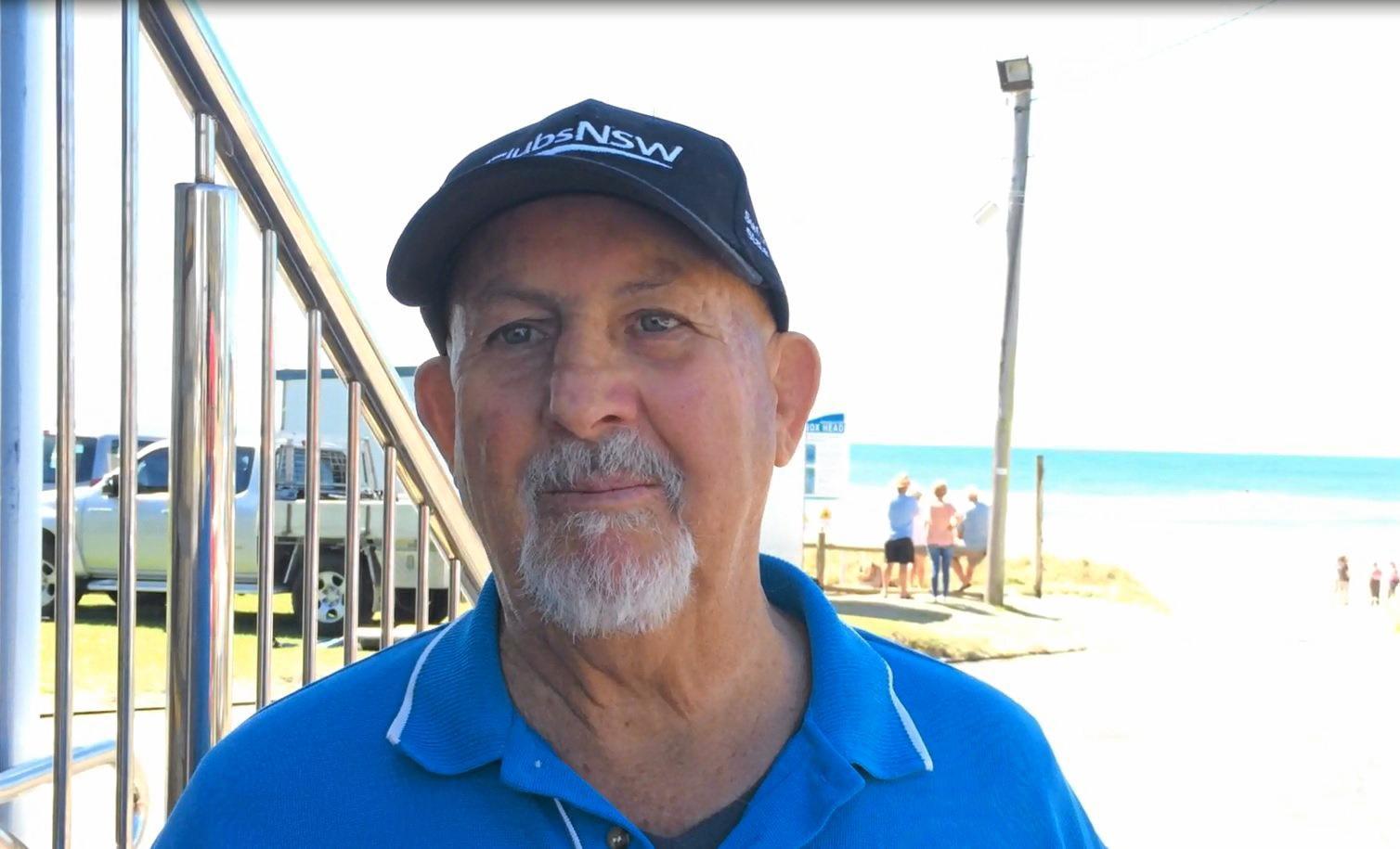 President of the Lennox Head-Alstonville Surf Life Saving Club Geoff Harris