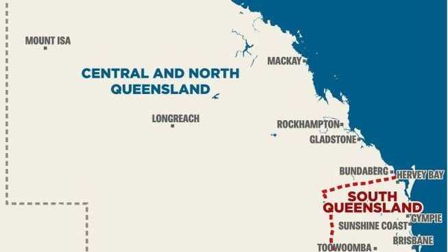 The proposed new border: How the Young LNP wants to carve up our state.