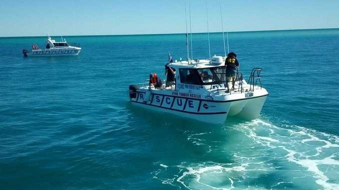 BOAT CAPSIZES: One woman is dead after a boat she was in capsized off Curtis Island.