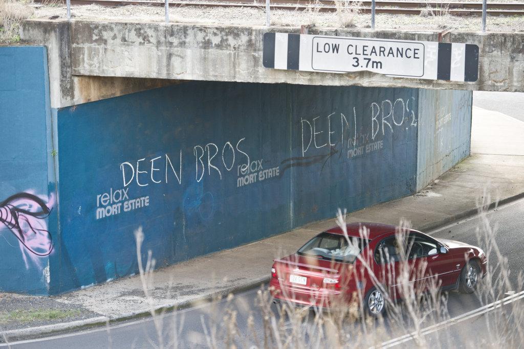 Graffiti written on Bridge St.