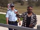 Githabul elder Rob Williams arrested at Cedar Point in protest over a proposed basalt quarry on a significant cultural site.