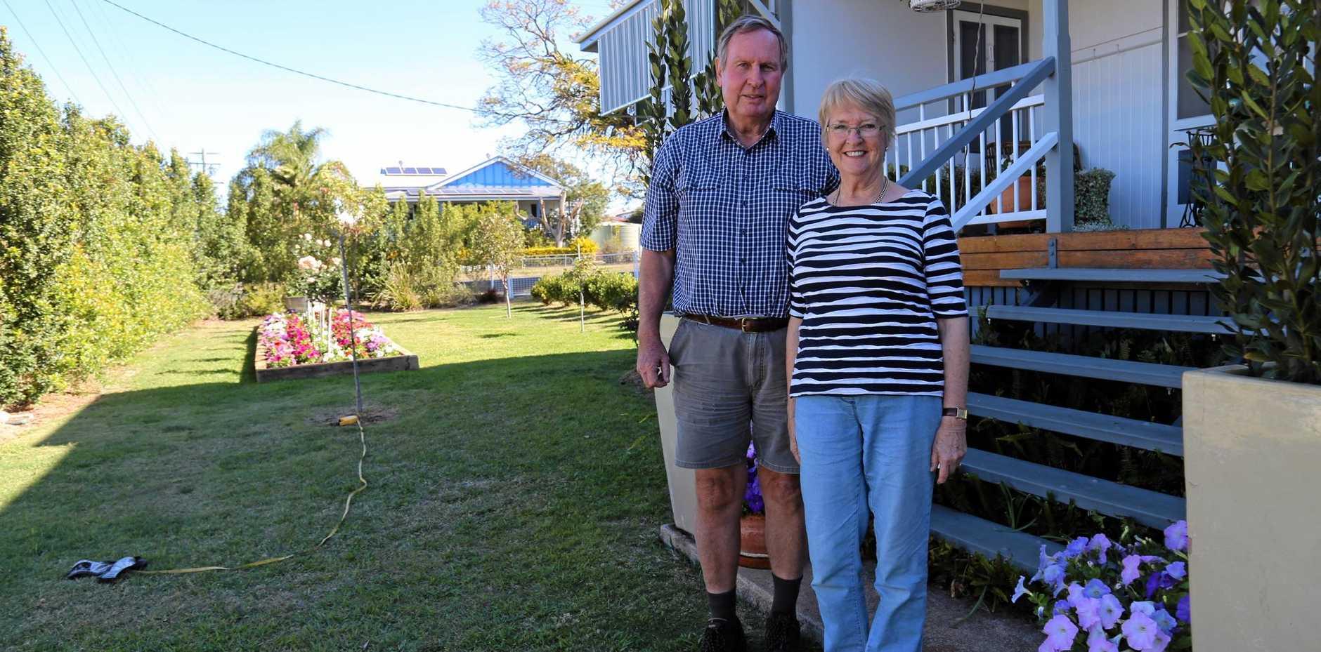 LABOUR OF LOVE: David and Maren Leng in their Garden.