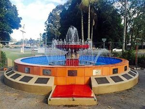 Lismore Lions fountain filled with concrete