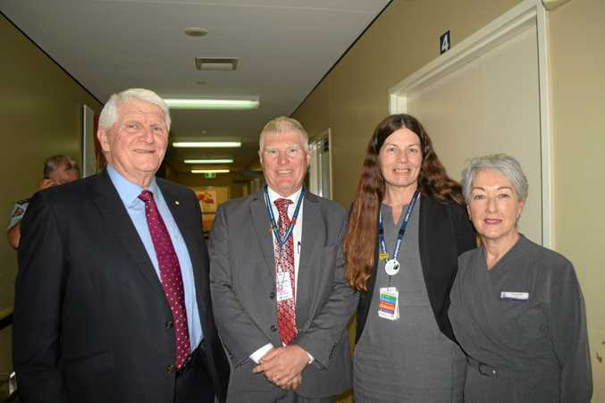 MAJOR BOOST: Mike Horan AM, Dr Ross Hetherington, Director of Nursing Anita Bolton and Mayor Tracy Dobie at yesterday's announcement at Warwick Hospital.