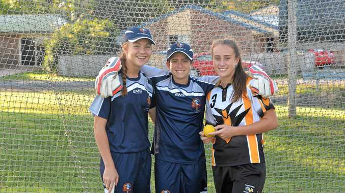Georgia Wright and Ryleigh and Gabby Wotherspoon will travel to Brisbane to take part in the U18 Female Rookie Challenge.