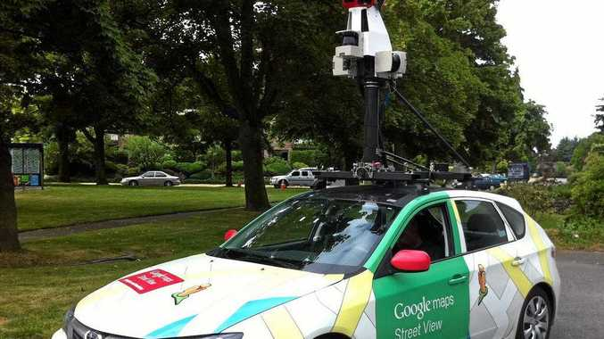 The standard Google Maps Street View car roaming the streets of Seattle, Washington.