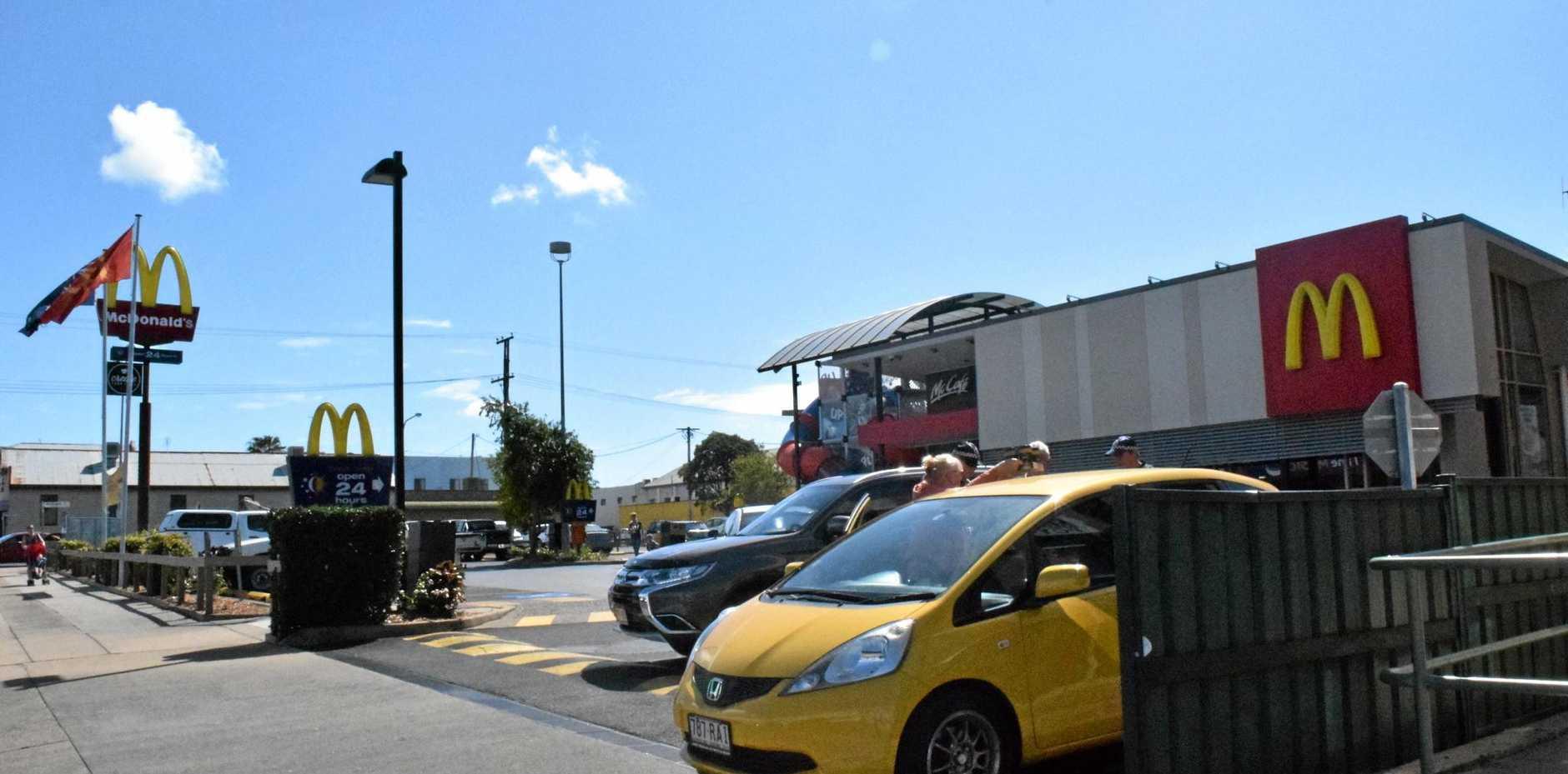 McBingle: A minor collision in the McDonalds car park on Targo St. Photo: Eliza Goetze / NewsMail.