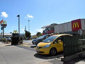 Big smack: Macca's car park bingle