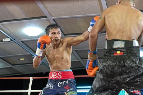 IN ACTION: Jack Asis fights Waylon Law at Rumours International on May 13.