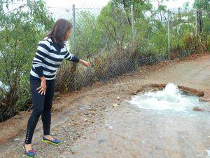 Burst water pipe proves big headache in Shute