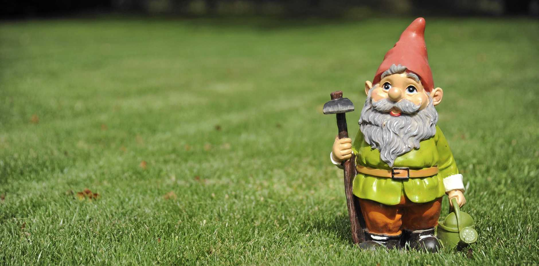 Gnome on grass