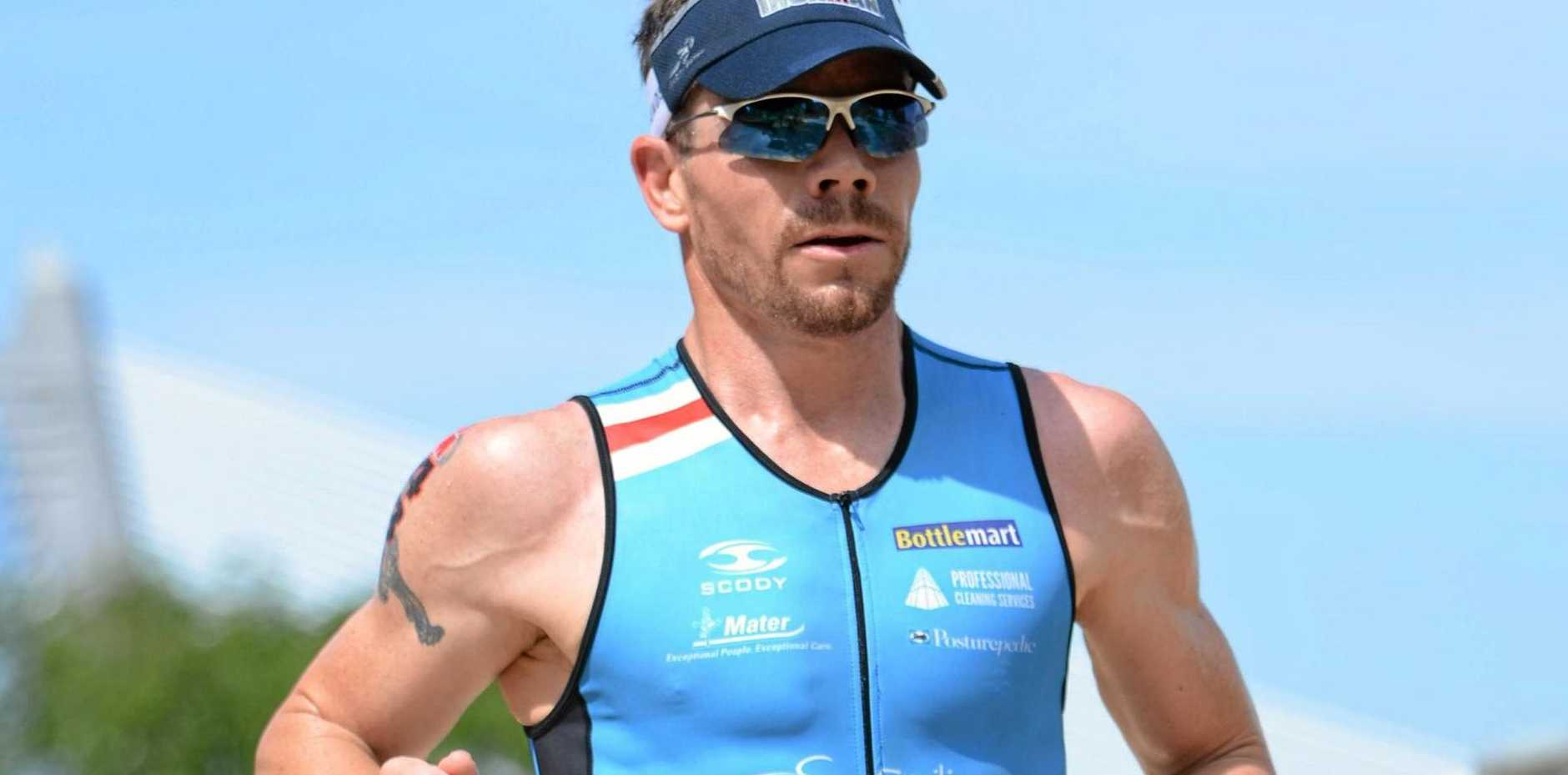 ULTRA COMPETITOR: Paul McDonald, 38, is one of the Coast's local hopes at this weekend's 70.3 IRONMAN World Championships.