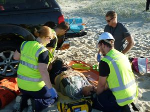 Paramedic students train on 'Trauma Island'