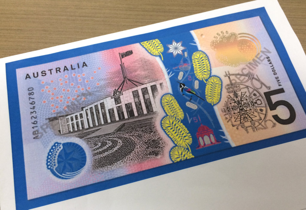 The new $5 note.