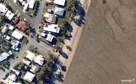 An aerial image of McEwens Beach taken in May 2014.
