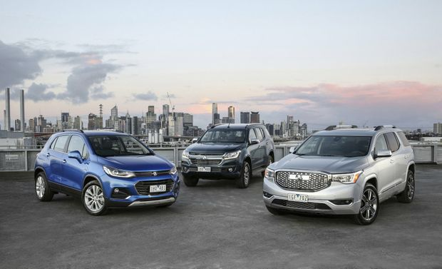 Seven-seat Acadia large SUV revealed by Holden alongside its new Trailblazer SUV and Astra small car, plus facelifts for Barina and Trax