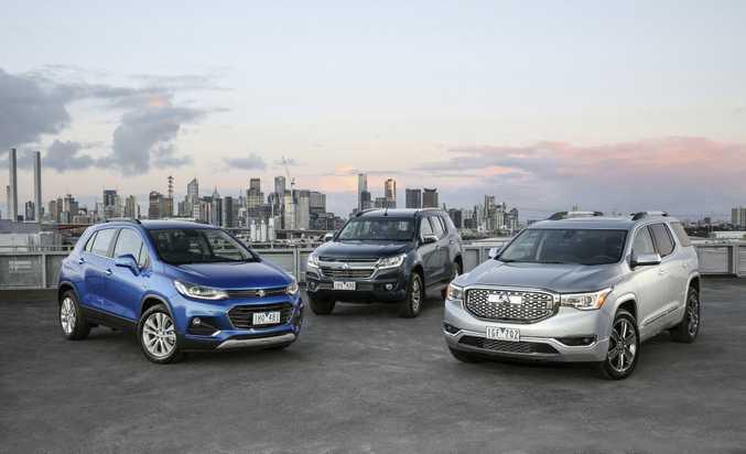 Holden's future SUV range revealed: Trax, Trailblazer and Acadia. Photo: Contributed