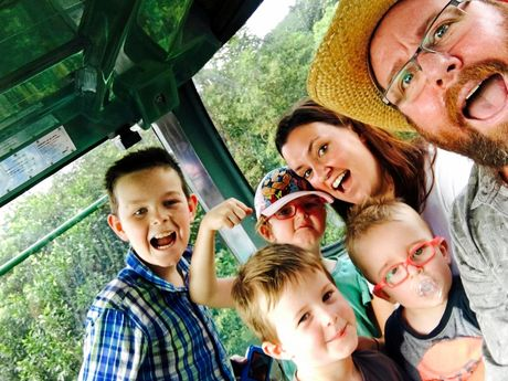 Shane Jacobson, pictured with his family, says he relished fatherhood.