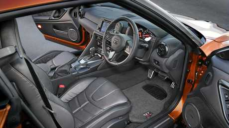 The MY17 Nissan GT-R cabin.