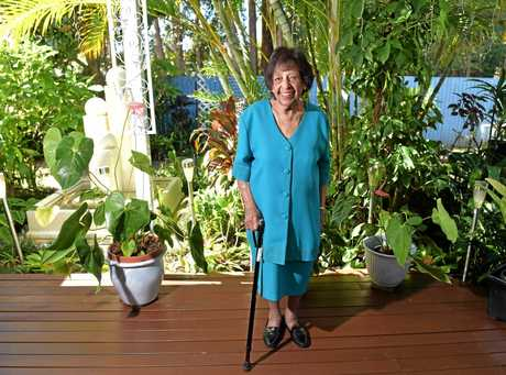 Anna Choolun loves to do her bit in to keep the garden tidy at her daughter and son-in-law's Buderim home.