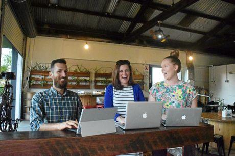 COLLABORATION: The trio want to bring Bundaberg entrepreneurs together. Photo: Eliza Goetze / NewsMail