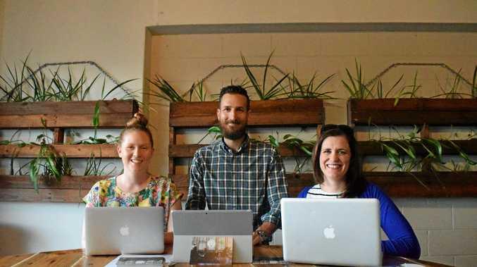 BRIGHT MINDS: Eleanor Carey, Dan Willersdorf and Rahel Clarke are starting up The Generator.